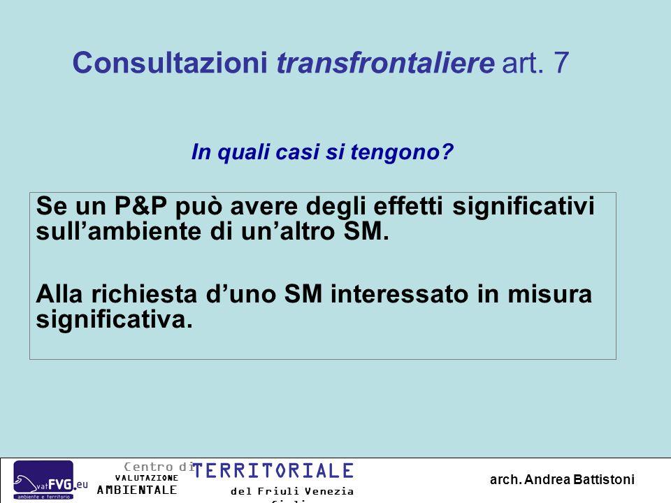Consultazioni transfrontaliere art. 7