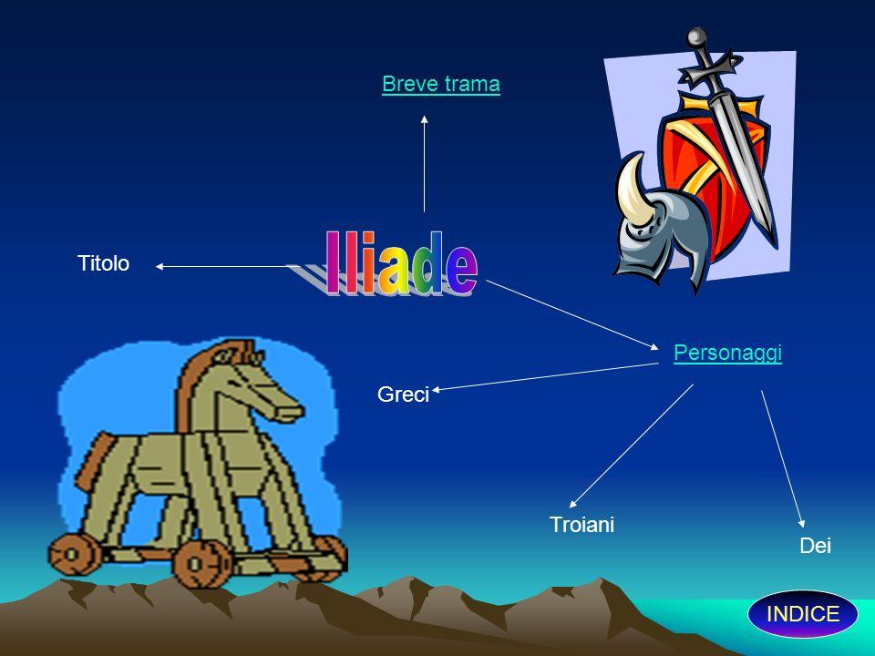 Breve trama Iliade Titolo Personaggi Greci Troiani Dei