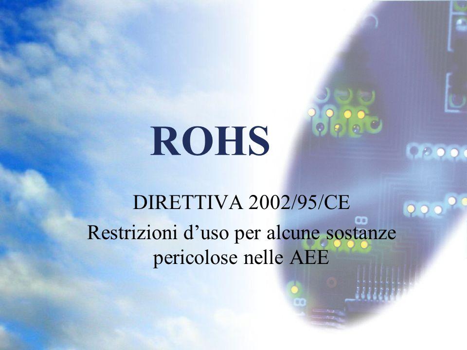 Restrizioni d'uso per alcune sostanze pericolose nelle AEE