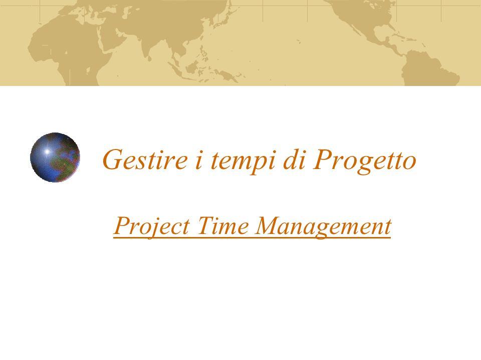 Gestire i tempi di Progetto