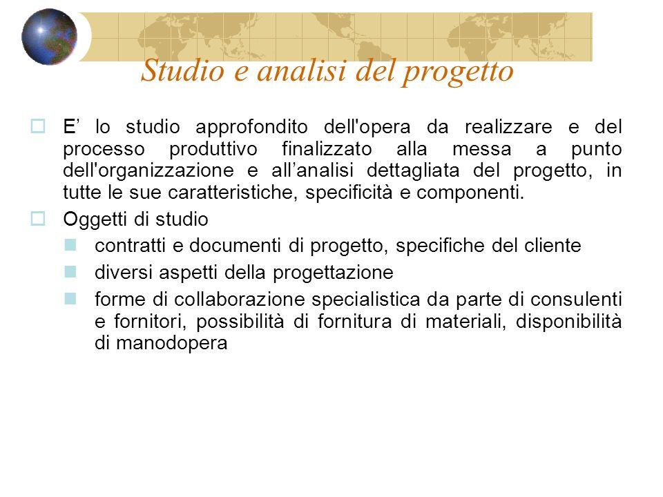 Studio e analisi del progetto
