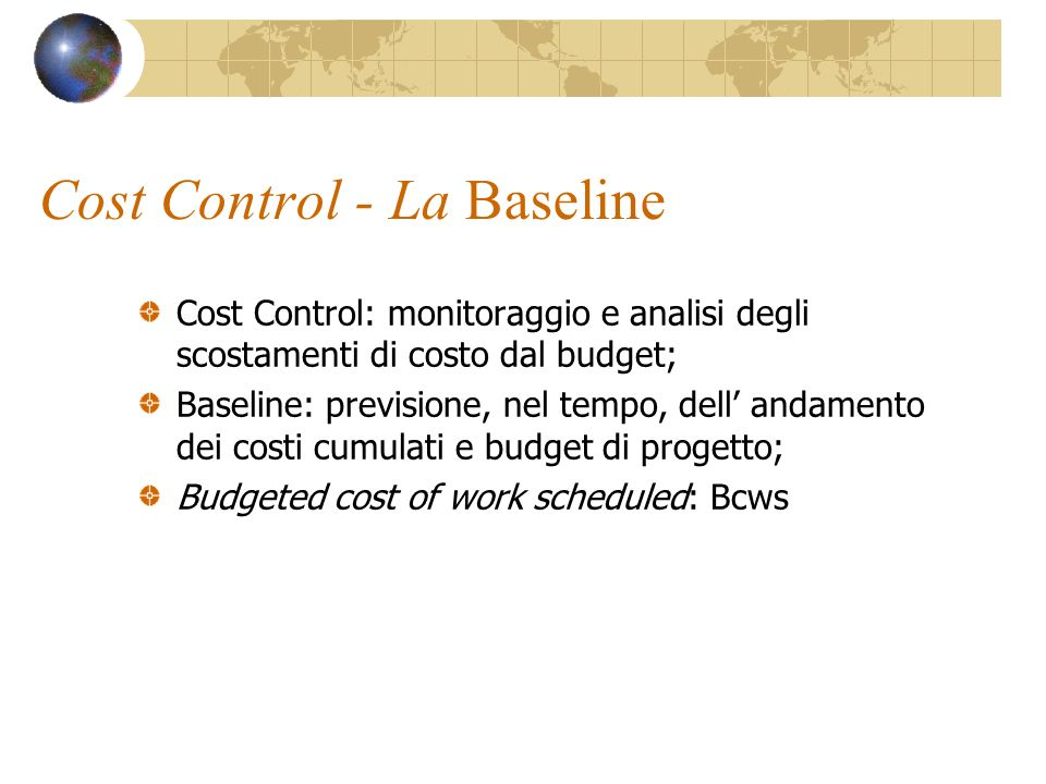Cost Control - La Baseline