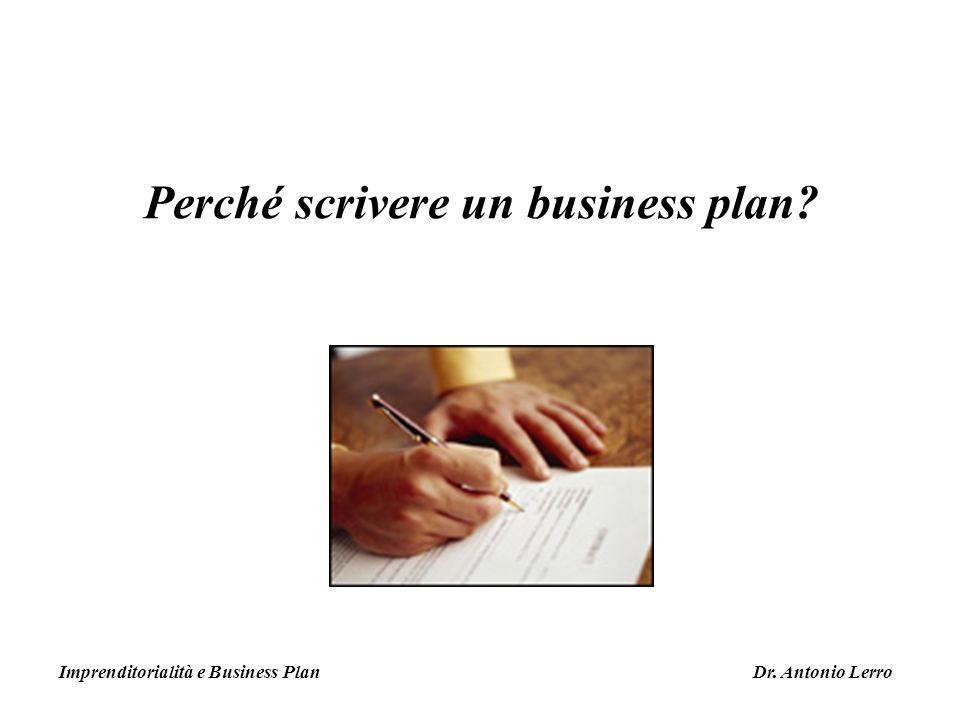 Perché scrivere un business plan
