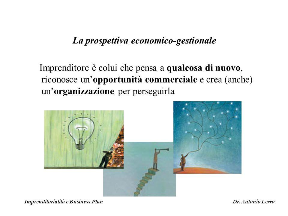 La prospettiva economico-gestionale