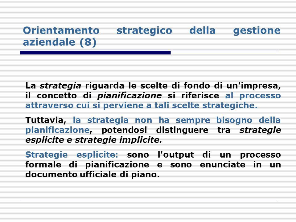 Orientamento strategico della gestione aziendale (8)