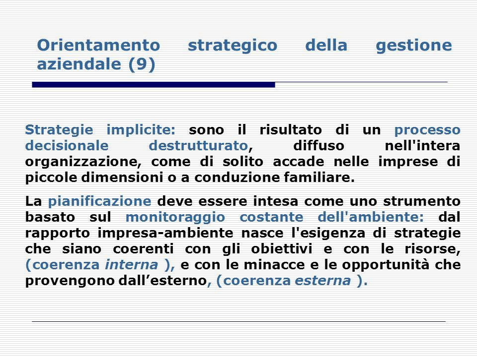 Orientamento strategico della gestione aziendale (9)