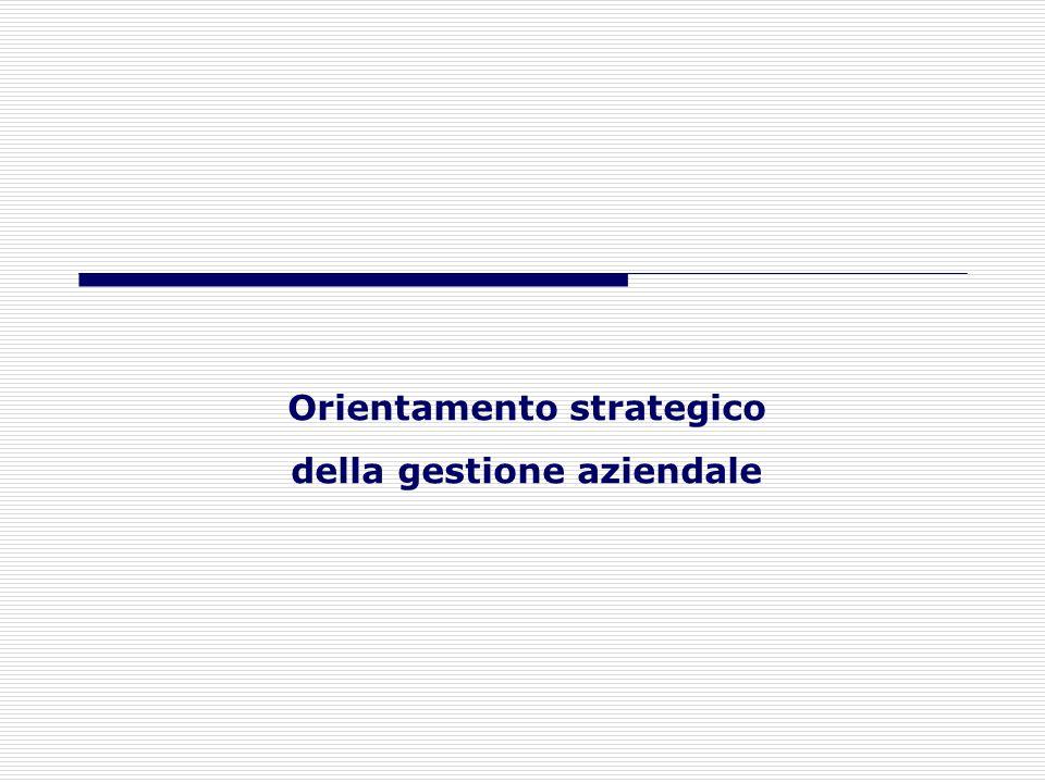 Orientamento strategico della gestione aziendale