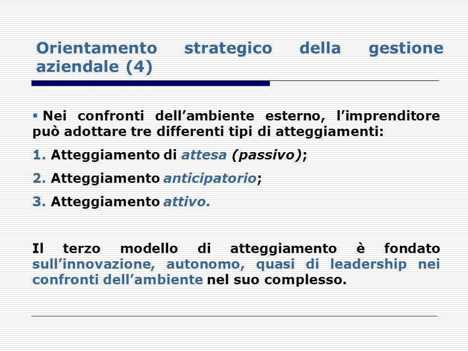 Orientamento strategico della gestione aziendale (4)