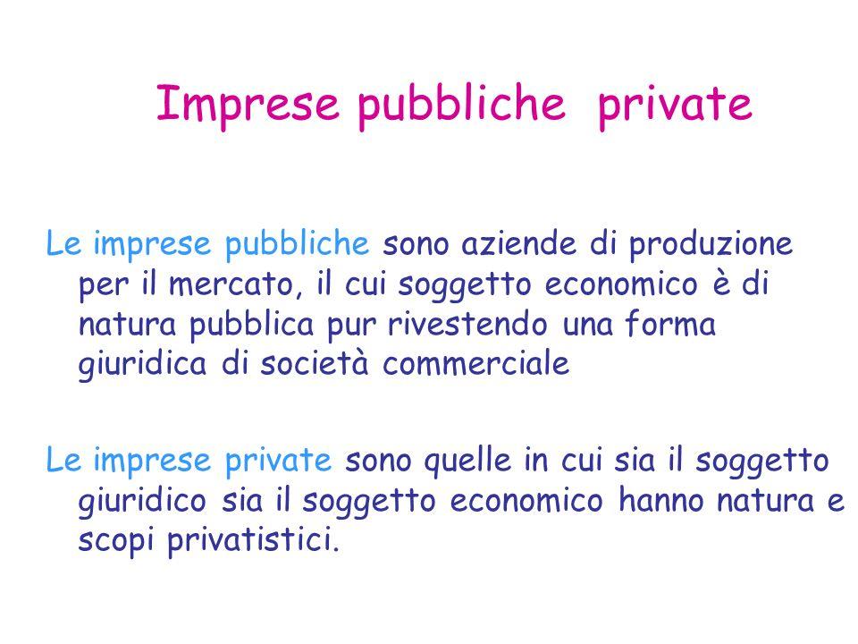 Imprese pubbliche private