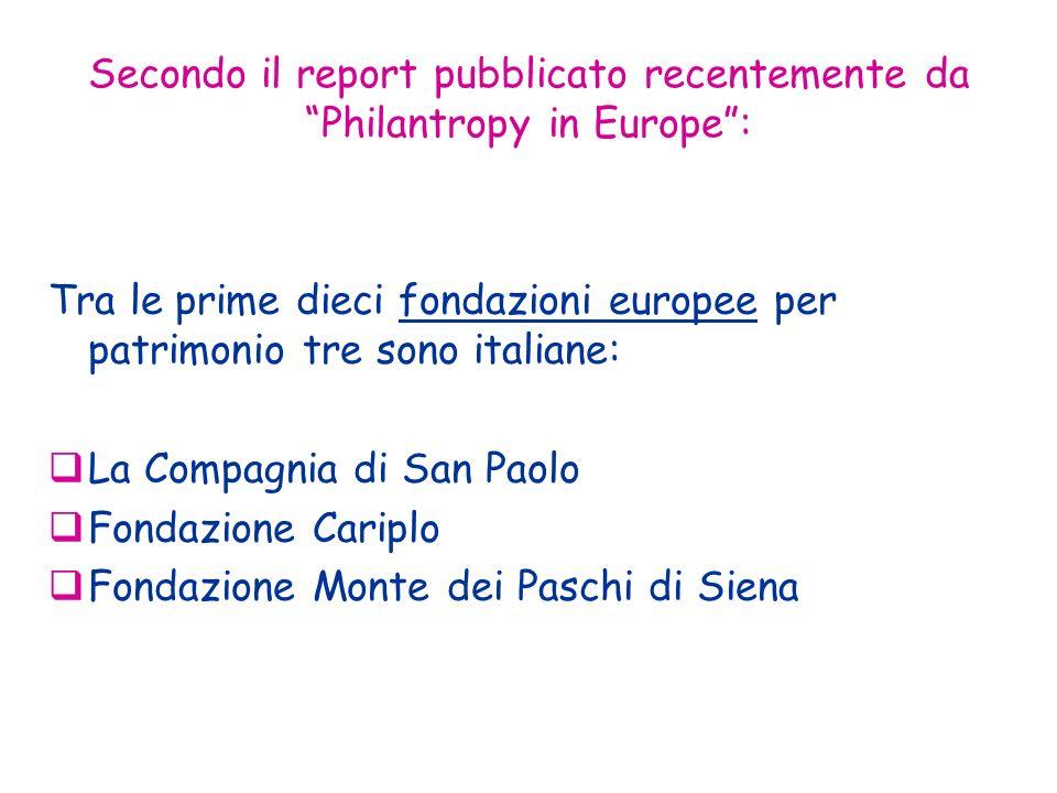 Secondo il report pubblicato recentemente da Philantropy in Europe :