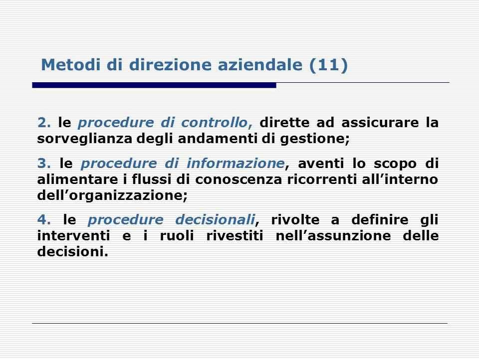 Metodi di direzione aziendale (11)