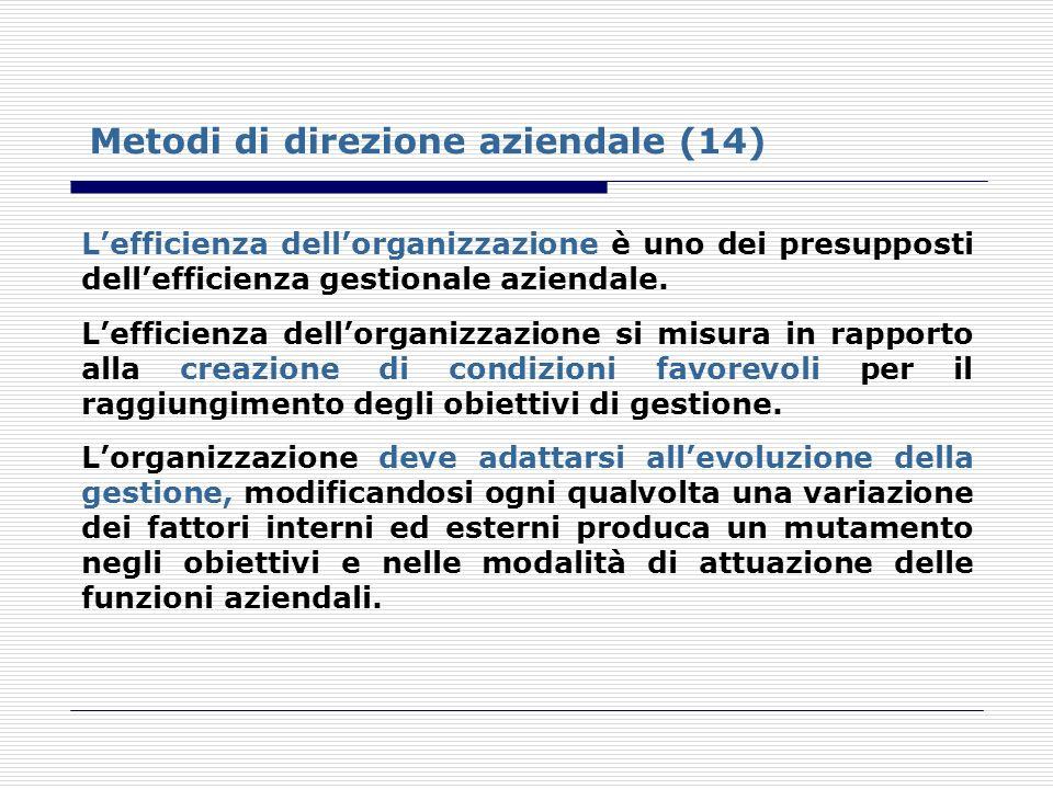 Metodi di direzione aziendale (14)