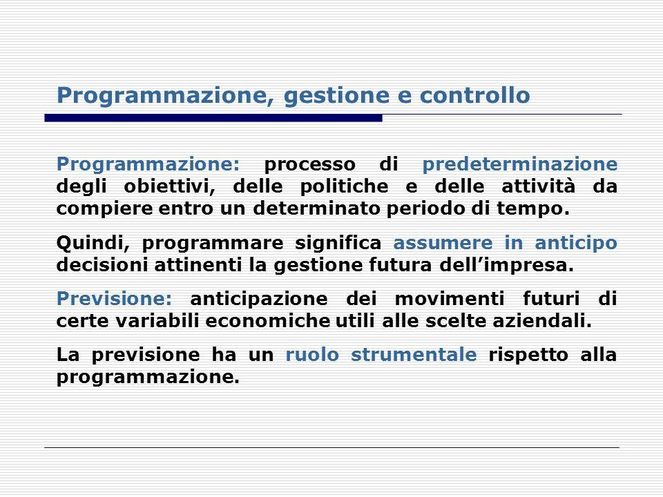 Programmazione, gestione e controllo