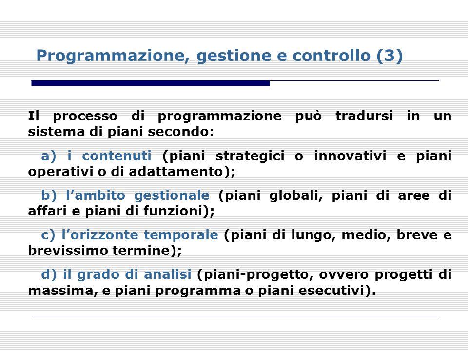 Programmazione, gestione e controllo (3)
