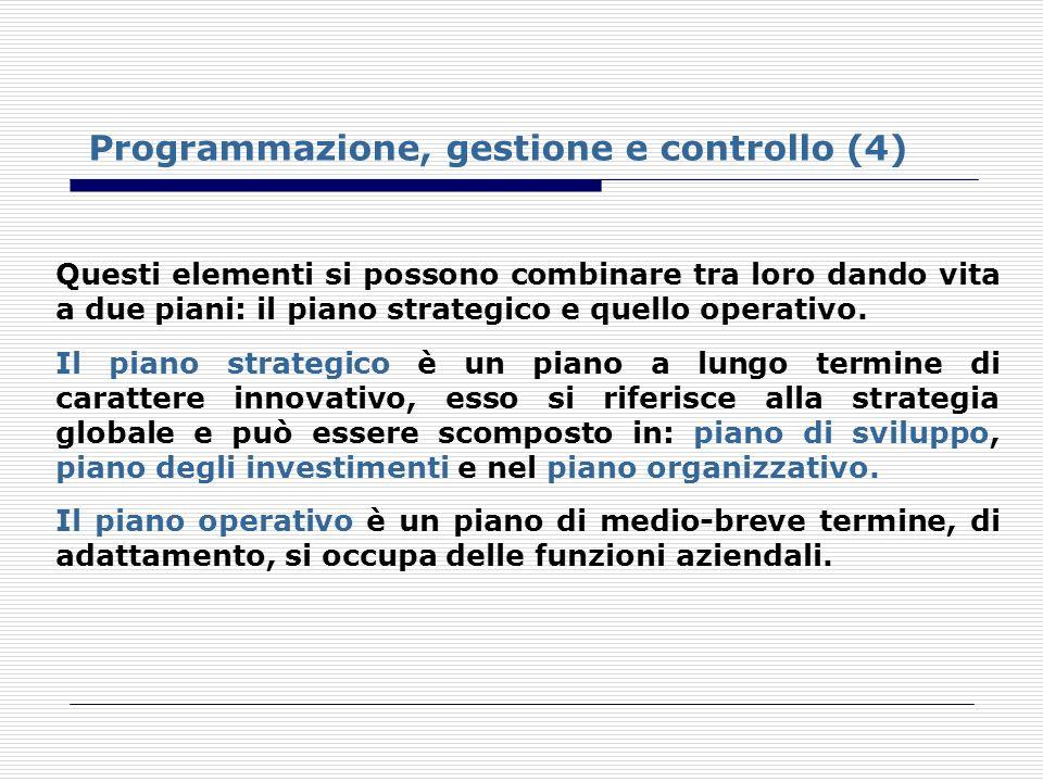 Programmazione, gestione e controllo (4)