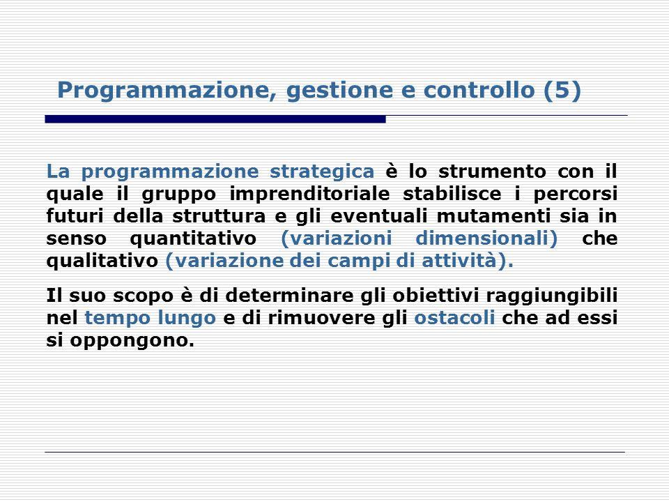 Programmazione, gestione e controllo (5)