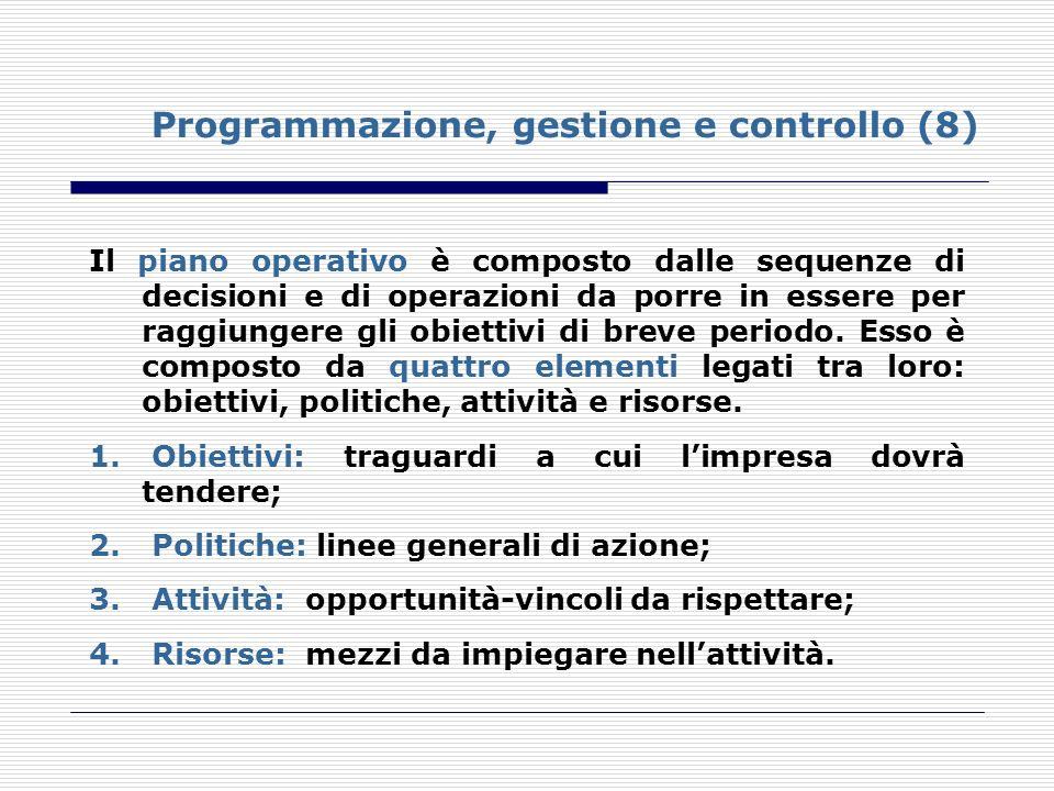 Programmazione, gestione e controllo (8)