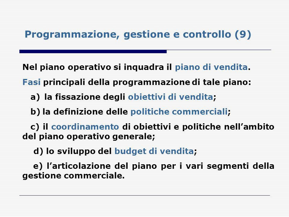 Programmazione, gestione e controllo (9)