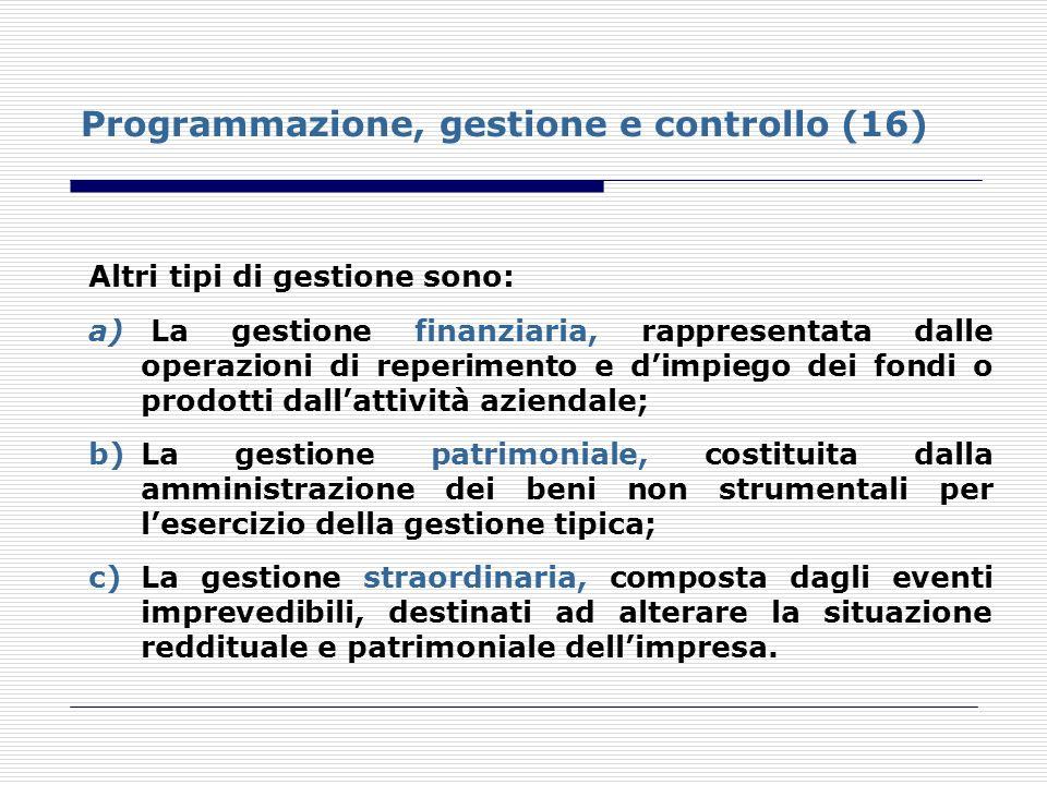 Programmazione, gestione e controllo (16)