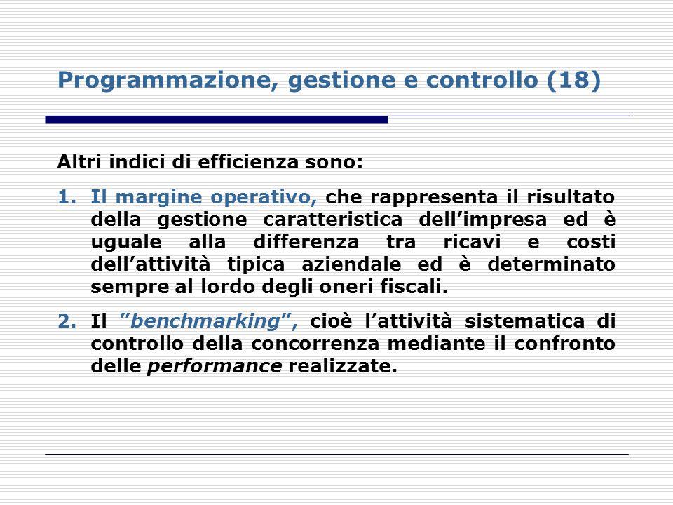 Programmazione, gestione e controllo (18)