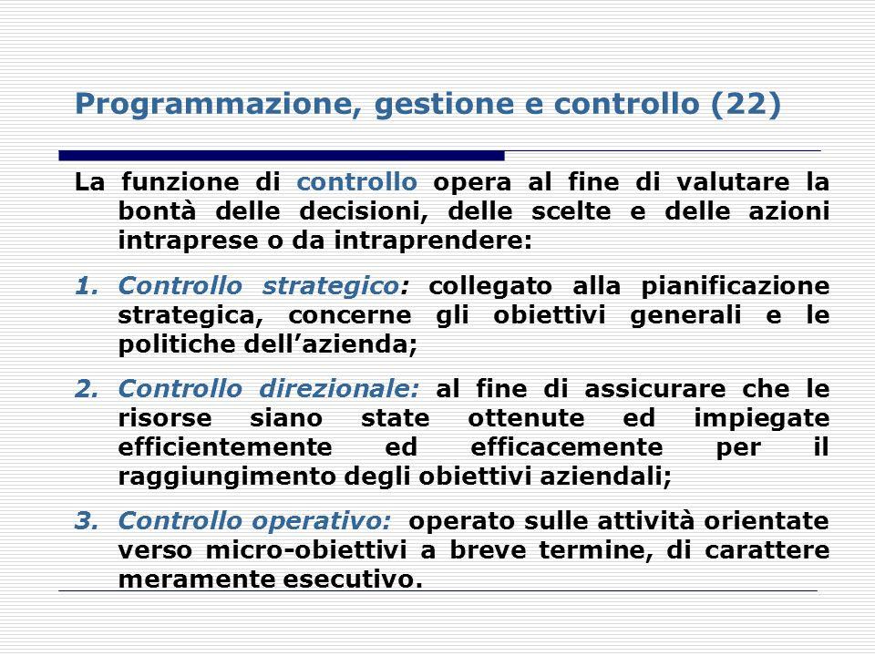 Programmazione, gestione e controllo (22)