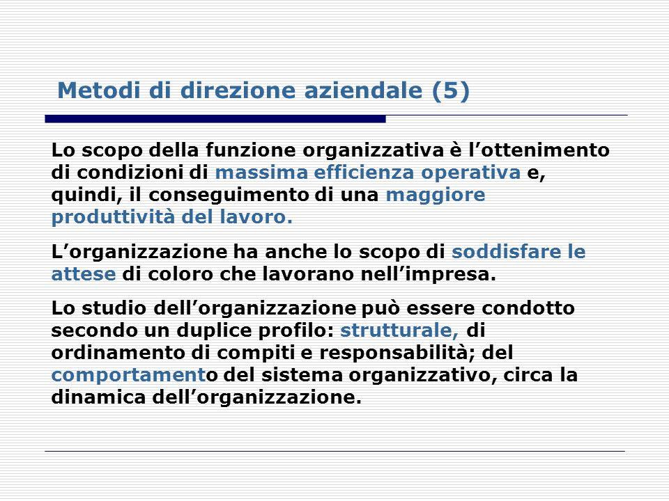 Metodi di direzione aziendale (5)