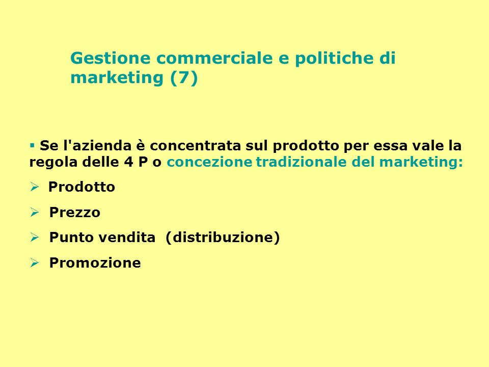 Gestione commerciale e politiche di marketing (7)
