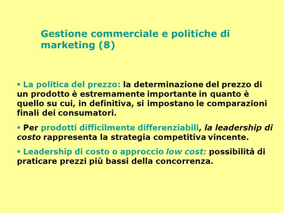 Gestione commerciale e politiche di marketing (8)