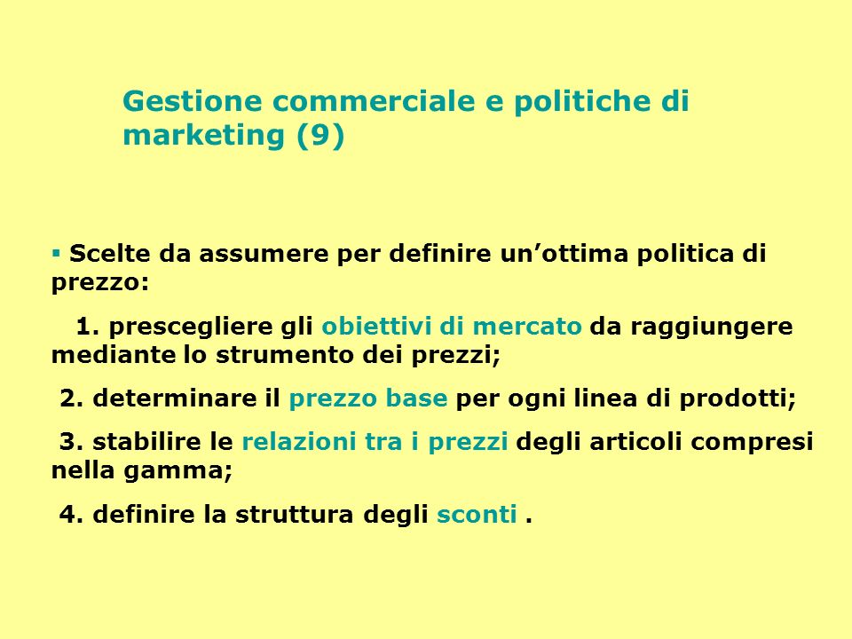 Gestione commerciale e politiche di marketing (9)