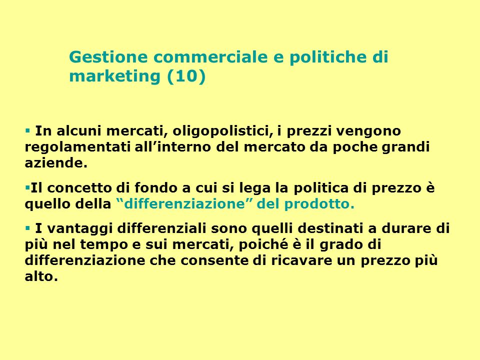 Gestione commerciale e politiche di marketing (10)