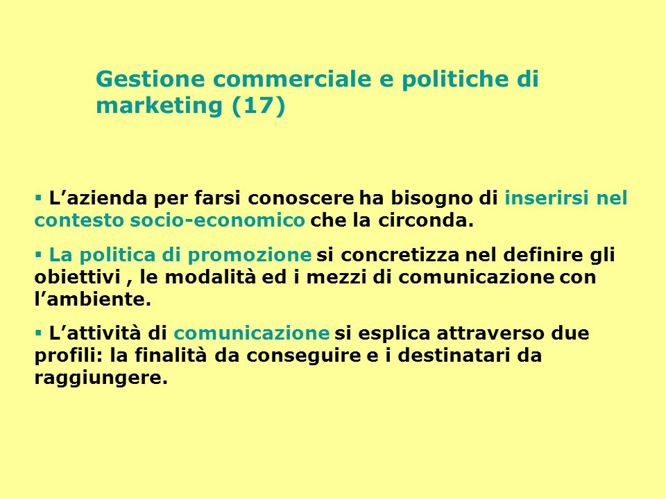 Gestione commerciale e politiche di marketing (17)