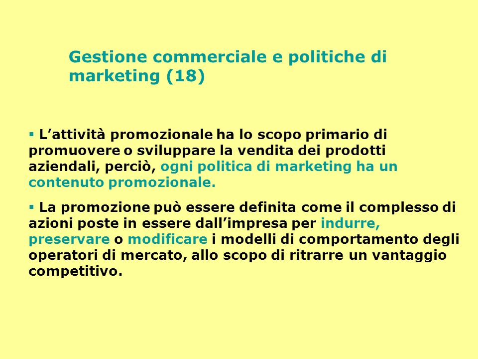 Gestione commerciale e politiche di marketing (18)