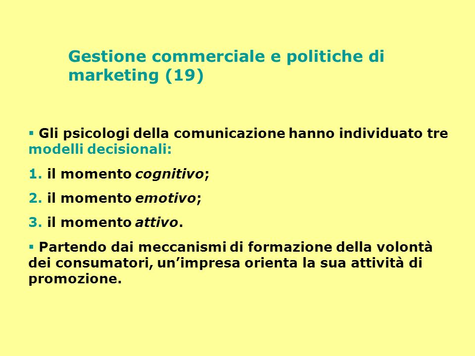 Gestione commerciale e politiche di marketing (19)