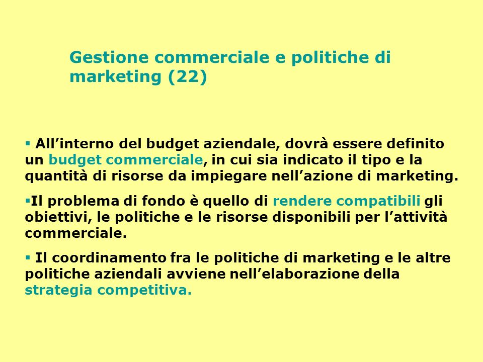 Gestione commerciale e politiche di marketing (22)