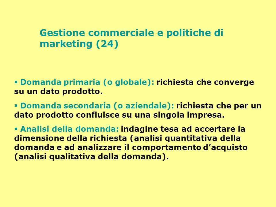 Gestione commerciale e politiche di marketing (24)