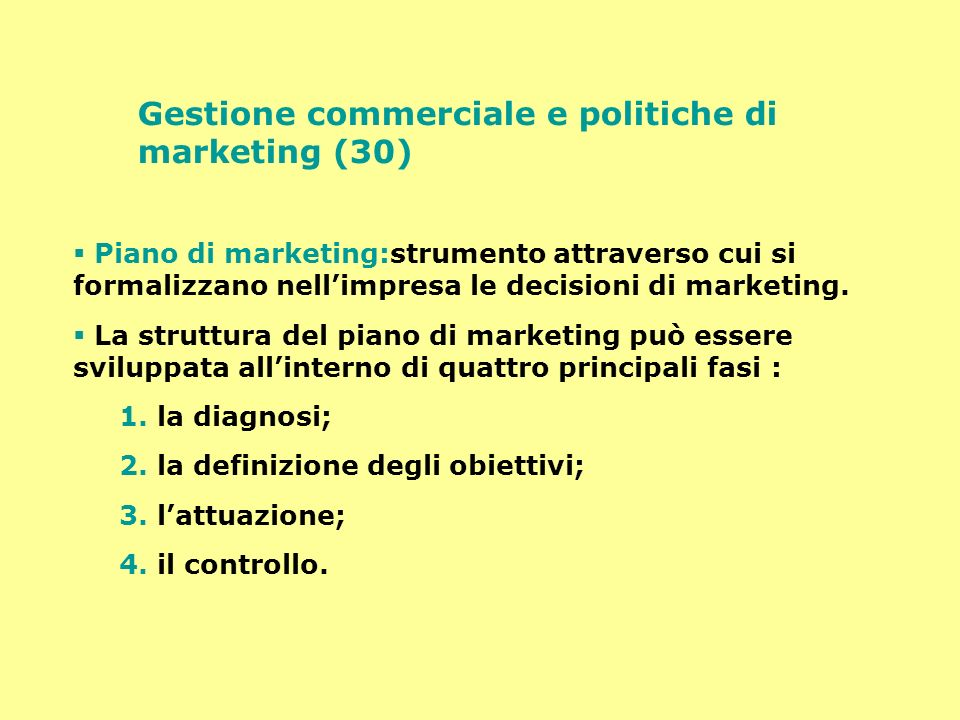 Gestione commerciale e politiche di marketing (30)