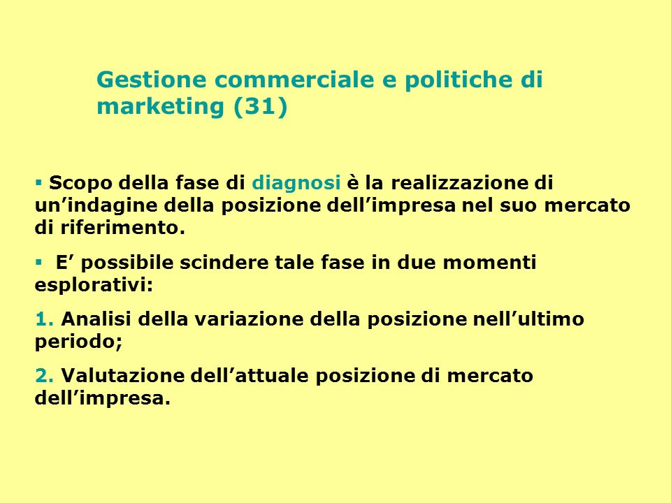 Gestione commerciale e politiche di marketing (31)