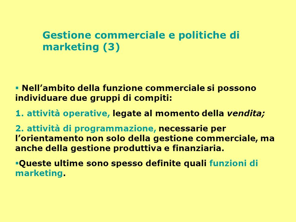 Gestione commerciale e politiche di marketing (3)
