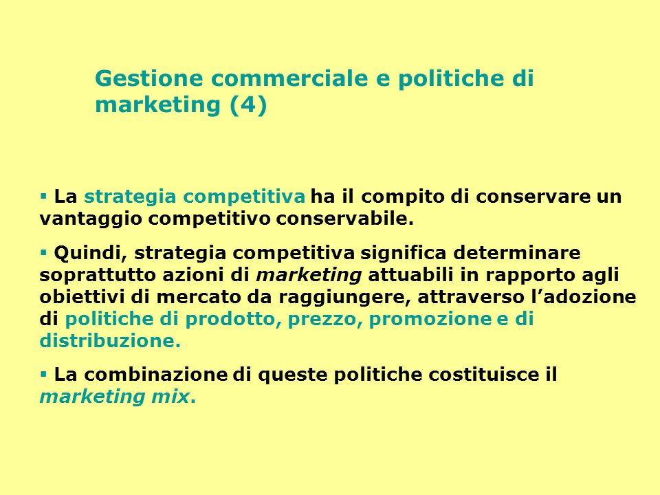 Gestione commerciale e politiche di marketing (4)