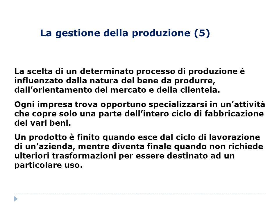 La gestione della produzione (5)