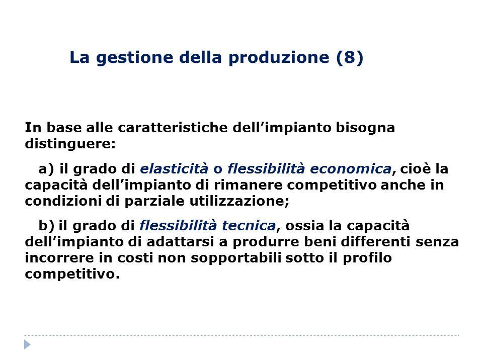 La gestione della produzione (8)