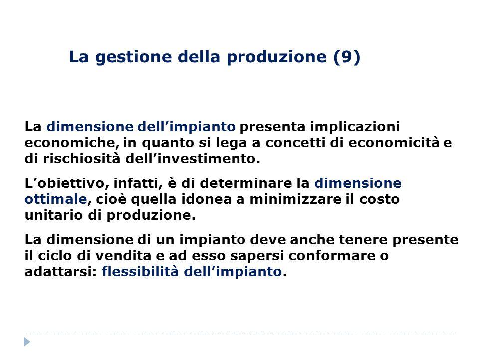 La gestione della produzione (9)