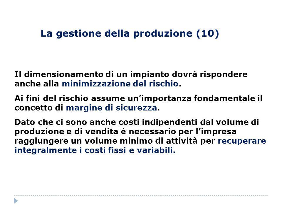 La gestione della produzione (10)