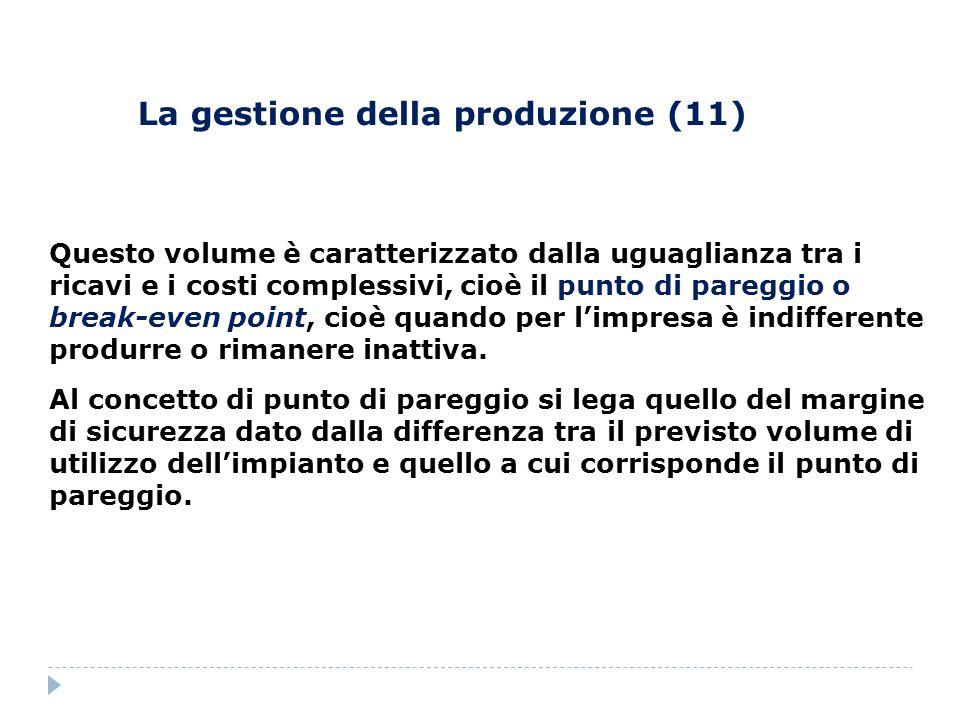 La gestione della produzione (11)