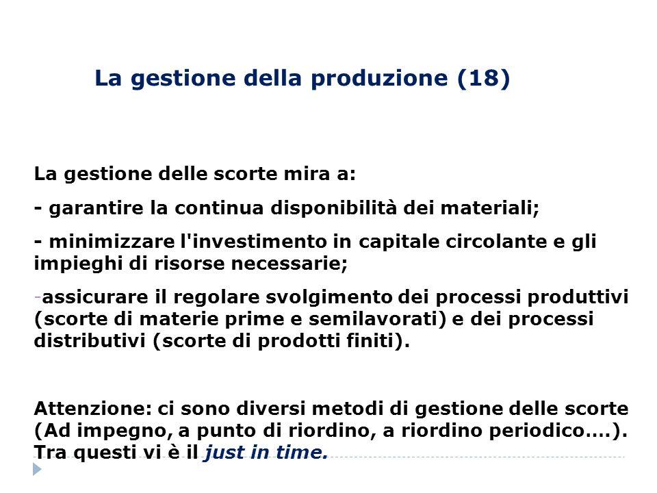 La gestione della produzione (18)