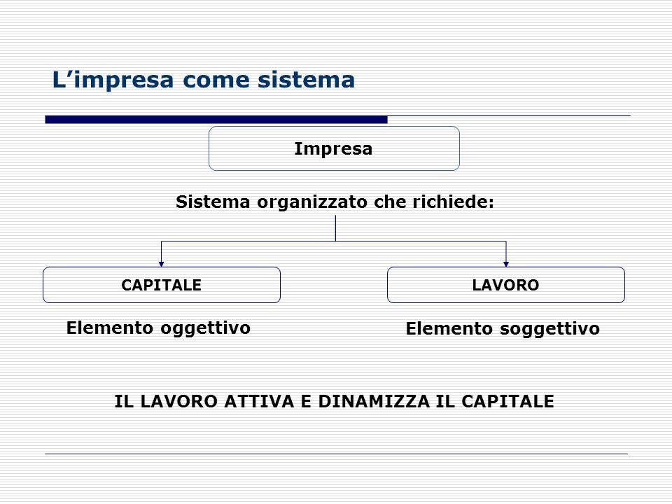 L'impresa come sistema