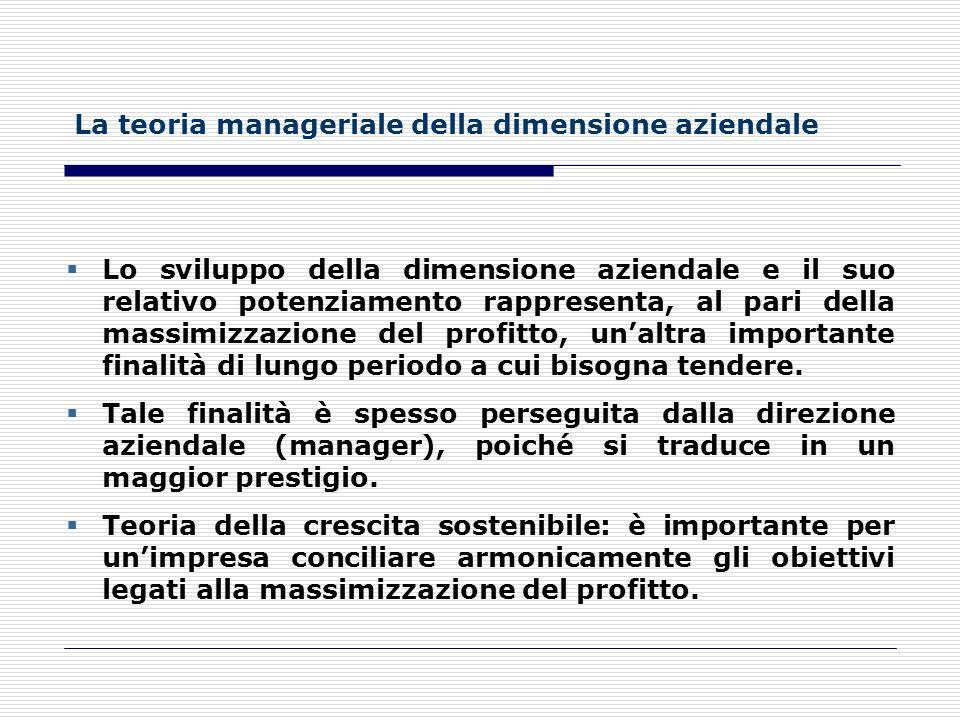 La teoria manageriale della dimensione aziendale