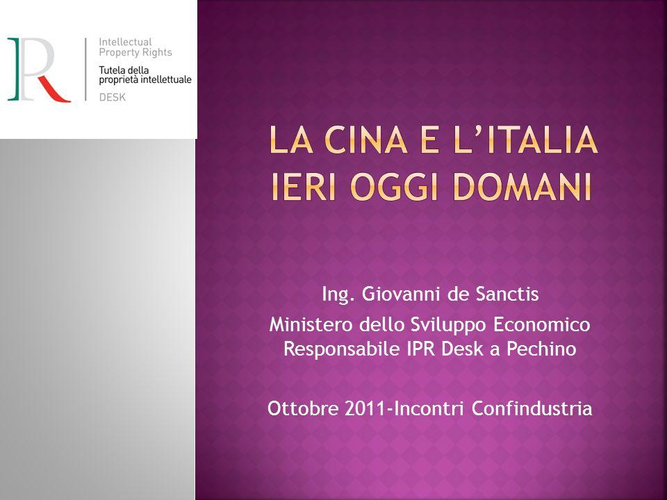 La Cina e l'Italia IERI oggi domani