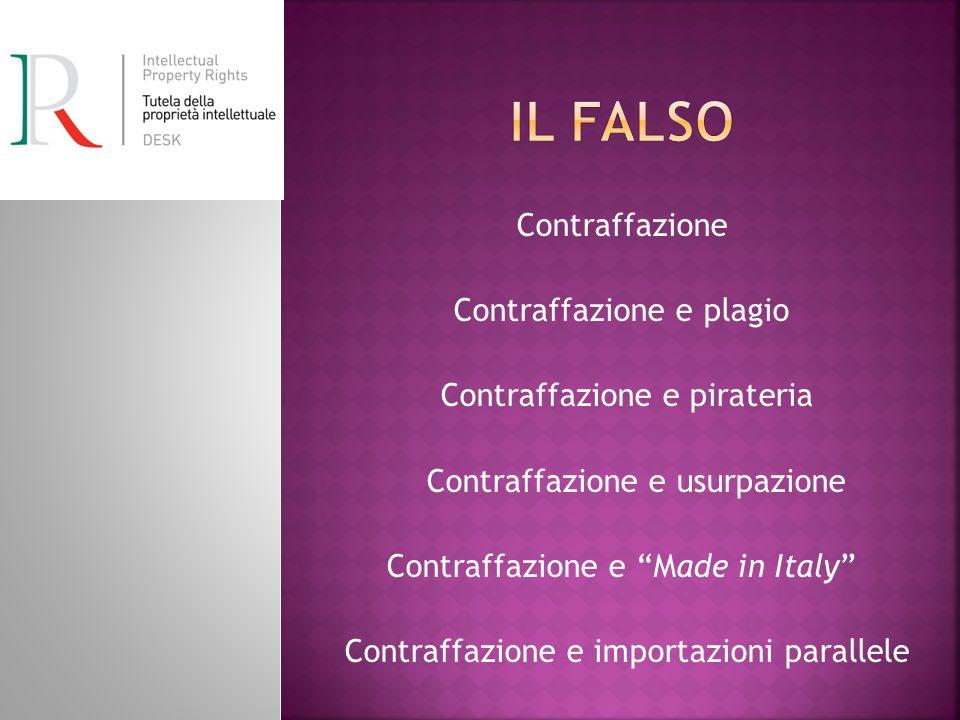Il falso Contraffazione Contraffazione e plagio