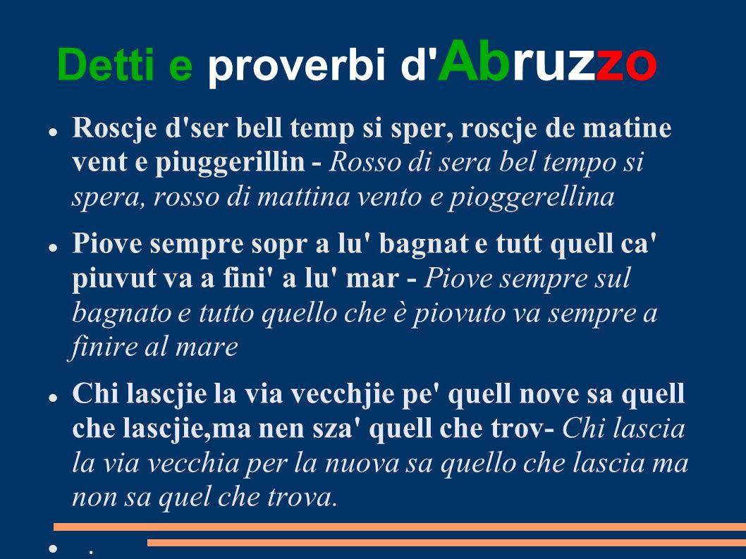 Detti e proverbi d Abruzzo